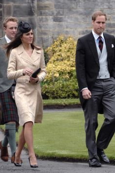 """Kate Middleton and Prince William. """"Will Kate be Wills' lady in waiting much longer? . . . [O]ne of the last in their inner circle to wed and speculation is growing that it won't be long before William and Kate announce their own engagement"""" (http://www.dailymail.co.uk/tvshowbiz/article-1270296/The-night-Kate-took-throne-dirty-dancing-queen.html)"""