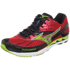 lowest price 7d9d1 a187d Mizuno Unisex Wave Musha 3 Running ShoeChinese RedLimie GreenAnthraciteUS  Womens 125 US Mens 11 M   Read more at the image link.