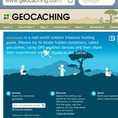 Check out www.geocaching.com to learn about fun geocaches for your family!