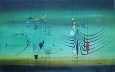 RICHARD KOPPE PAINTING - 1948  this is as beautiful and sinister as I imagine the sea to be.