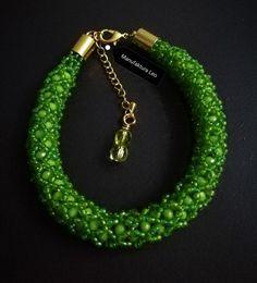 Bracelet with fire polish and toho made by Manufaktura Leo Leather Working, Leo, Jewelry Making, Polish, Fire, Bracelets, Handmade, Fashion, Moda