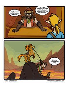 """[webcomic BOTW] """"High Horse"""" - by Awkward Zombie Visit blazezelda.tumblr.com"""
