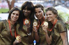 4 x 100. Goud acht jaar na datum in Peking 2008.