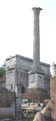 Column of Phocas, the last monument erected in the Roman forum.