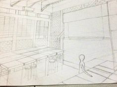 Perspective view studio architecture #architecture #perspective #2titiklenyap #interior #sketch #draw