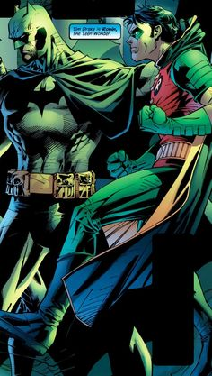 Tim picked up like a kitten...so cute✨ Batman, contTROL your ROBIN!