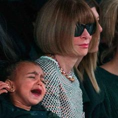 North West Threw A Tantrum At Kanye's Fashion Show And Anna Wintour's Face Was Priceless