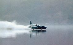 Bluebird, the jet-powered craft in which Donald Campbell perished 42 years ago.