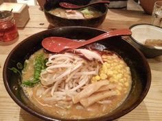 「 Spicy Miso Ramen £10.40  @ Sasuke Ramen - Tis the season to eat hot ramen in broths with spice. Mmm, I loved it but I wish the spice was incorporated into… 」