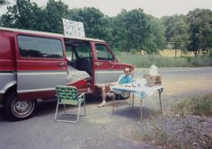 In celebration of our 25th anniversary.... co-founder, Doug Shinn, running one of the company's first road side spring water stands. #bottledwater #tbt