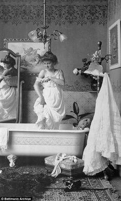 Bath Tub By Fire Vintage