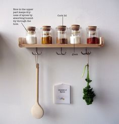 Korean designer Jihyum Ryou reimagines food storage without a fridge. In his project 'Save Food From The Fridge' Ryou uses traditional. Spice Containers, Spice Jars, Spice Bottles, Storage Containers, Food Storage, Spice Storage, Storage Ideas, Cutlery Storage, Spice Shelf