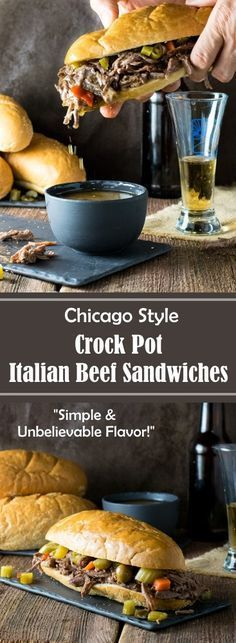 Sandwich Recipes 131589620342683008 - Chicago Style Crock Pot Italian Beef Sandwiches Recipe Source by foxvalleyfoodie Crock Pot Slow Cooker, Crock Pot Cooking, Slow Cooker Recipes, Crockpot Recipes, Cooking Recipes, Cooking Ham, Crock Pot Beef, Meat Recipes, Sirloin Recipes