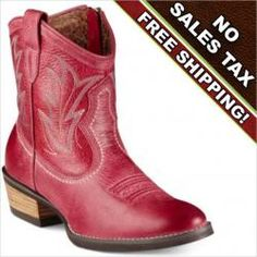 Ariat Billie Red Cowboy Boot...and I want them in mustard yellow