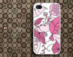 case for iphone 4s iphone 4 case iphone 4s case iphone 4 cover classic  illustrator Pink flower graphic design. $13.99, via Etsy.