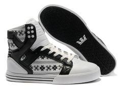Classic Supra Skytop Black Snowflake White Black Pattern Shoes
