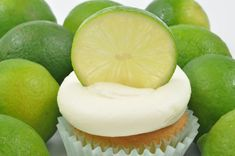 Lime Butter Cream Frosting - It's tart and it's sweet at the same time! Our Lime Butter Cream recipe pairs well with vanilla cupcakes or cake. Cupcake Frosting, Buttercream Frosting, Cupcake Cakes, Whipped Cream Frosting, Cream Cheese Icing, Glaze Recipe, Butter Recipe, Fun Desserts, Delicious Desserts