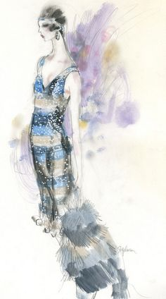 Illustration by Steven Stipelman, spring 2011, Miuccia Prada goes roaring chic for 'The Great Gatsby'.