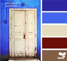 patinaed palette