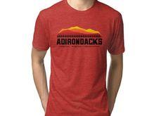'Adirondack Mountains - New York' Tri-blend T-Shirt by ryewilcox Adirondack Mountains, Chiffon Tops, T Shirts For Women, Mens Tops, Work Harder, York, Fashion, Moda, Fashion Styles