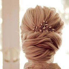large chignon wedding hairstyle 2016
