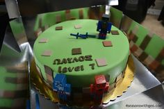 minecraft cake party