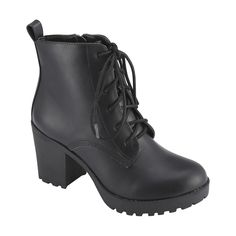 Lace Up High Heel Boots | Kmart