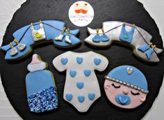 Baby Boy Cookies by Wish I Had A Cake