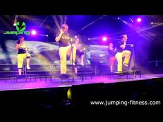 JUMPING® is an exciting new fitness movement performed on individual patented trampolines. Dynamic aerobic exercising on specific trampolines with handlebars. Trampolines, Po Trainer, Workout Videos, Exercise Videos, Fitness Studio, Infp, Rebounding, Aerobics, Youtube