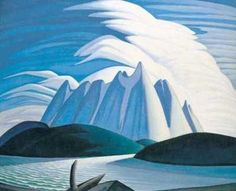 Lawren Harris, one of the Group of Seven  -  Lake and Mountains, 1928 Tom Thomson, Emily Carr, Group Of Seven Artists, Group Of Seven Paintings, Canadian Painters, Canadian Artists, Landscape Art, Landscape Paintings, Oil Paintings