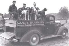Old time coon hunters