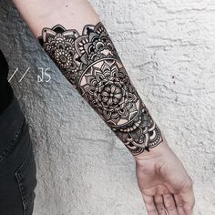 forearm cover up tattoos, outer forearm tattoo, wrist tattoo Mandala Tattoo Mann, Forearm Mandala Tattoo, Tattoos Mandalas, Mandala Tattoos For Women, Mandala Tattoo Sleeve, Tattoo Sleeve Designs, Mandala Tattoo Design, Sleeve Tattoos, Wrist Tattoo