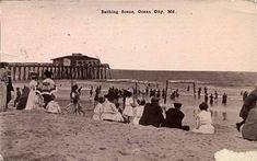 The Pier circa 1911 - Ocean City, Maryland - A History In Pictures Ocean City Boardwalk, Ocean City Md, Bonita Beach, Chesapeake Bay Bridge, Delmarva Peninsula, Chincoteague Island, Somewhere In Time, Maryland, Coastal