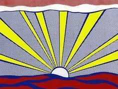 Roy Lichtenstein |  Sunrise | #sunrise #roylichtenstein |Roy Lichtensteins (1923-1997) Pop Art