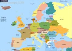 awesome Map of europe crete