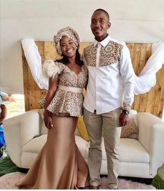 Seshweshwe Dresses, African Traditional Wedding Dress, African Weddings, African Fashion, Couples, Love, Weddings, Couple, African Fashion Style