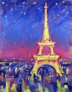 Abstract Paris at Quaker Steak and Lube - Austintown - Paint Nite Events near Austintown, OH>