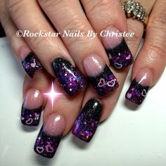 Rockstar Nails by Christee #valentinesday #acrylicnails