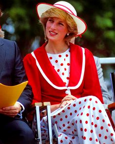 • June 1983: Princess Diana at an open air event in St.John's, during the first royal tour of Canada.