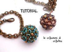 Tutorial Sfera Rivestita con Twin Beads / Superduo, Bicono e Perle Swarov