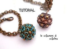 Tutorial Sfera Rivestita con Twin Beads / Superduo, Bicono e Perle Swarov