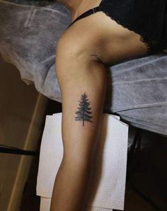 Ideas Pine Tree Tattoo Small Simple For 2019 Tattoo Life, Ox Tattoo, Arrow Tattoo, Piercing Tattoo, Piercings, Pine Tattoo, Trendy Tattoos, Cute Tattoos, Small Tattoos