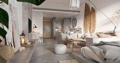 Un mini loft en tons gris - Home Page Mini Loft, Futuristisches Design, Deco Design, Design Moderne, Design Ideas, Modern House Design, Modern Interior Design, Small Studio Apartment Design, Tribal Decor