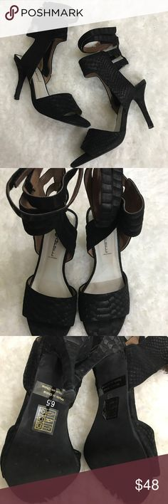 Ibiza Last Jeffrey Campbell snakeskin print heels Ibiza Last Jeffrey Campbell snakeskin print ankle strap heels. Lightly worn no flaws. Size 6.5. Heel height of 4 inches. Thanks for looking. Happy Poshing! Jeffrey Campbell Shoes Heels