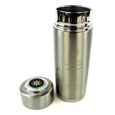 Survivalism gear and news | NANO ION IONIZER POD DOUBLE TOP FILTER ENERGY PURIFIER CUP BOTTLE FLASK PORTABLE ALKALINE WATER PH ENHANCER FLASK- SILVER COLOR