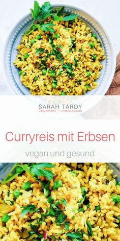 Curryreis mit Erbsen - sarah tardy Hauptgerichte % vegane Rezepte Curry rice is a simple dish that i Rice Recipes For Dinner, Raw Food Recipes, Vegetarian Recipes, Healthy Recipes, Arroz Al Curry, Curry Rice, Sloppy Joe, Fruits And Veggies, Quick Easy Meals