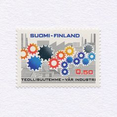 Finnish Industry (0,50). Finland, 1971. Design: Pentti Rahikainen. #mnh #graphilately | by BlairThomson