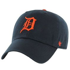 ec8b4270d3b0 Detroit Tigers Clean Up Road 47 Brand Adjustable Hat - Detroit Game Gear