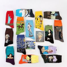 L'arte di calzini di cotone calzini in misto cotone di Chicatory