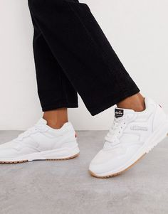 Shop Ellesse NYC trainers in triple white at ASOS. Ellesse Shoes, Asos, Nyc, Real Leather, Trainers, Latest Trends, Lace Up, Sneakers, Stuff To Buy